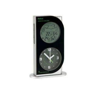 930 Mebus Funkwetterstation,Wetterstation LCD inkl. Analoger Uhr ! Neu!
