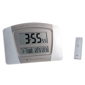 951 Super schicke Mebus Funkuhr mit Temperatur Anzeige !