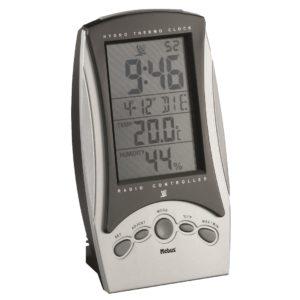 953 Super schicke Mebus Funkuhr mit Temperatur Anzeige !